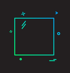 square icon design vector image