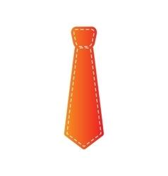 Tie sign Orange applique isolated vector