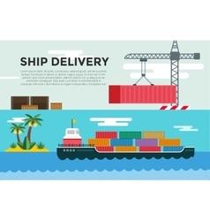 transportation concept global vector image