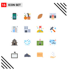 User interface pack 16 basic flat colors vector