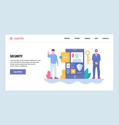 web site gradient design template cyber vector image