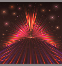 abstract background with bursts of laser rays vector image