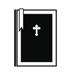 Bible book black simple icon vector