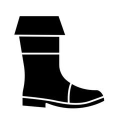 boots fishing icon black vector image vector image