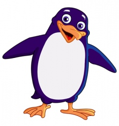 cheerful penguin vector image