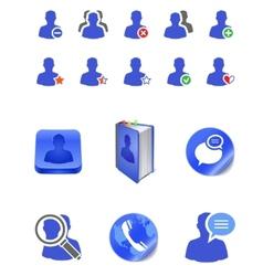 social member icons vector image