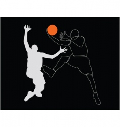 sportsmen poster vector image vector image