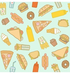 Fastfood pattern vector image vector image