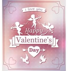 Happy Valentine day vector image vector image