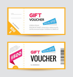 simple and clean modern gift voucher template vector image