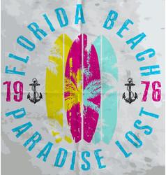 summer poster florida vector image vector image
