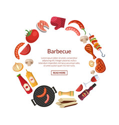 with barbecue grill or steak vector image
