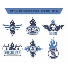 american football label sticker vector image