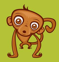 cartoon monkey vector image vector image