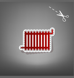 radiator sign red icon with for applique vector image