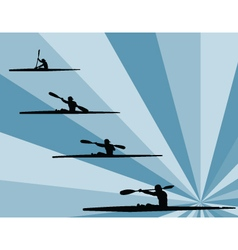 rowing with background - vector image vector image