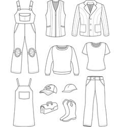 Worker plumber man woman fashion set vector image