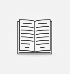 book line icon vector image vector image