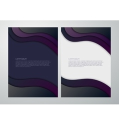 business background with waves vector image