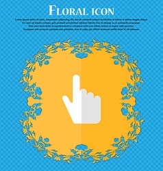 cursor Floral flat design on a blue abstract vector image vector image