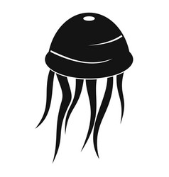 jellyfish icon simple style vector image