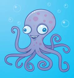 silly octopus vector image vector image