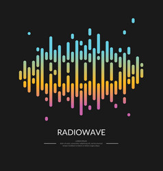 the image of the sound wave vector image vector image