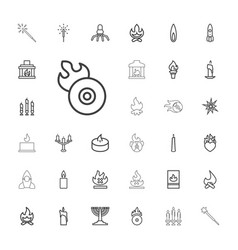 33 flame icons vector image