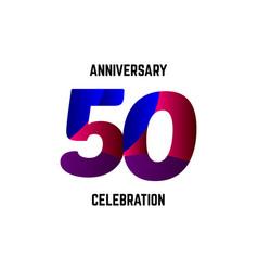 50 year anniversary celebration logo template vector