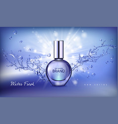 A realistic style perfume vector