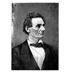 Abraham lincoln vintage vector