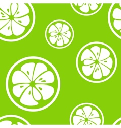 Abstract citrus fruit seamless pattern vector image