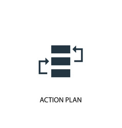 Action plan icon simple element vector