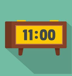 alarm clock retro icon flat style vector image