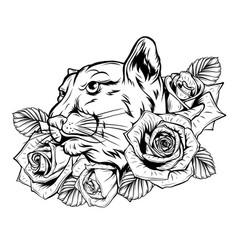 animal head - jaguar - logo icon vector image