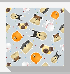 Animal seamless pattern collection with dog 4 vector