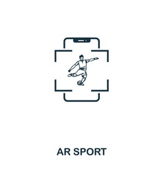 ar sport icon mobile app printing web site icon vector image