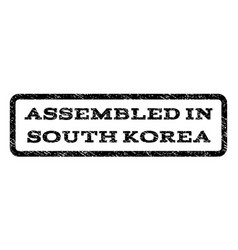 assembled in south korea watermark stamp vector image