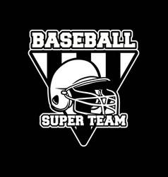 baseball badge logo emblem template super team vector image