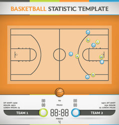 Basketball Statistic vector image