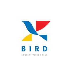 bird - concept logo template vector image