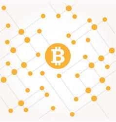 Bitcoin money with circles vector