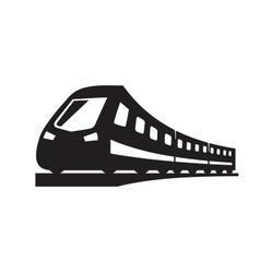 black Train icons vector image
