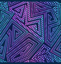 bright neon geometric pattern vector image