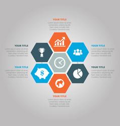 Business infographic hexagon vector