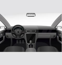 Car dashboard auto salon interior vector