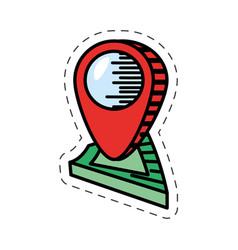 Cartoon pointer map navigation location vector