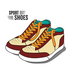 Cartoon sport shoes vector