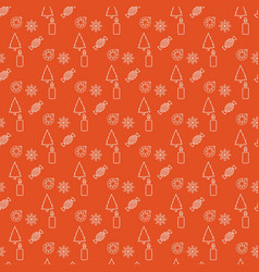 christmas pattern with orange background vector image