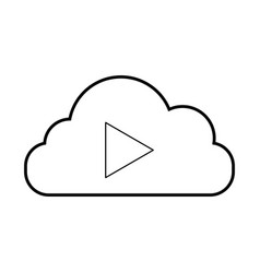 cloud computing with tape media player isolated vector image